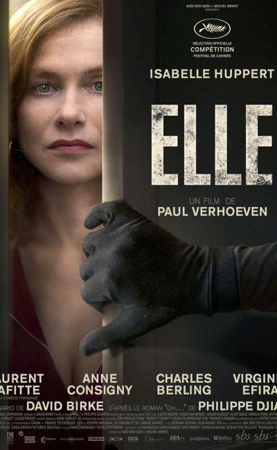 Affiche de Elle de Paul Verhoven, avec Isabelle Huppert