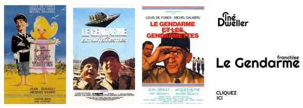 La Franchise des Gendarmes avec Louis de Funès, tous les films