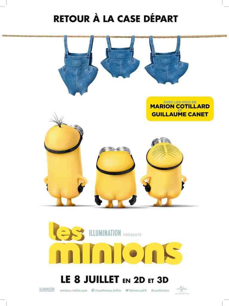 Les Minions, affiche teaser du premier film (2015)