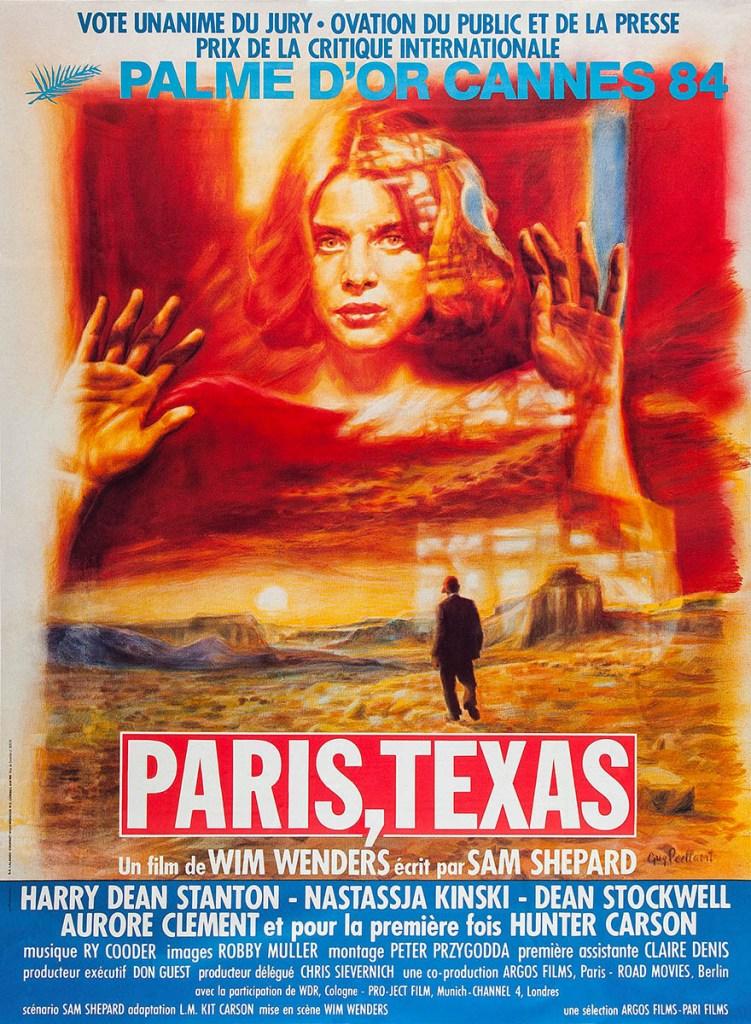 Paris, Texas, de Wim Wenders, affiche de la Palme d'Or