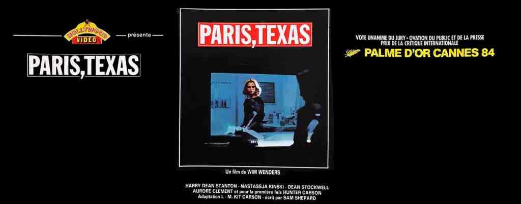 Paris,Texas, jaquette vidéo Hollywood Vidéo