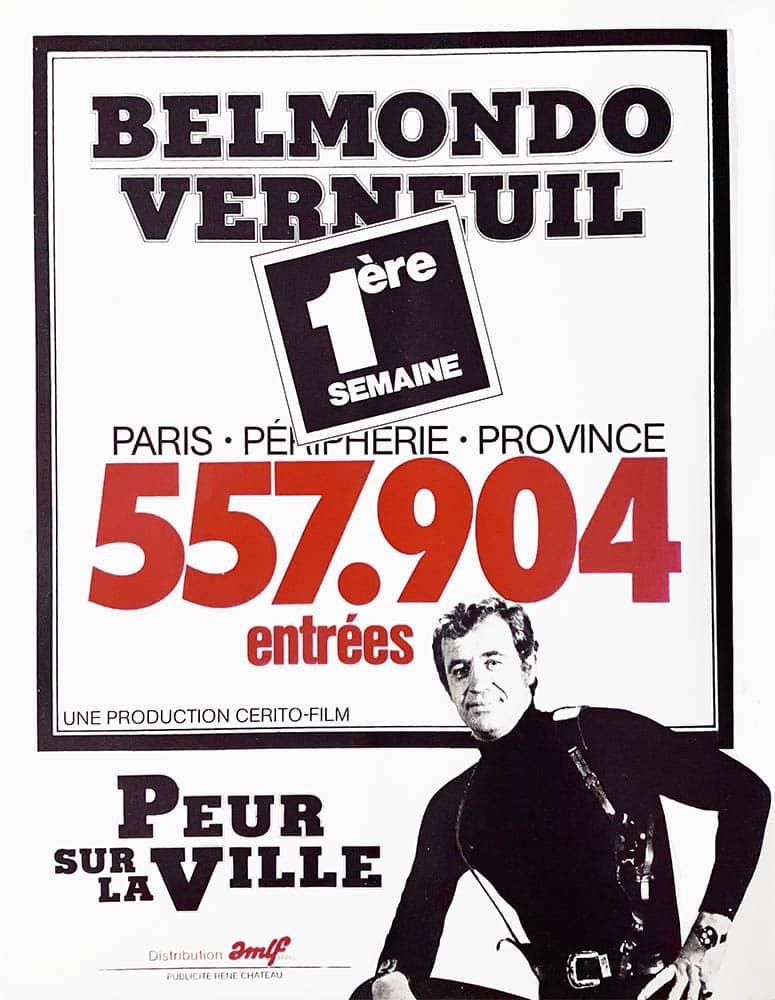 Affiche Peur sur la ville Belmondo affiche-poster rare
