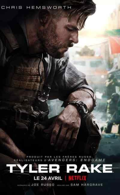 Tyler Rake (Extraction), affiche française du film Netflix