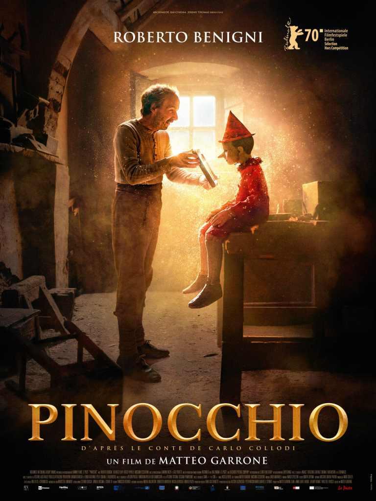Affiche de Pinocchio de Matteo Garrone, destinée aux salles