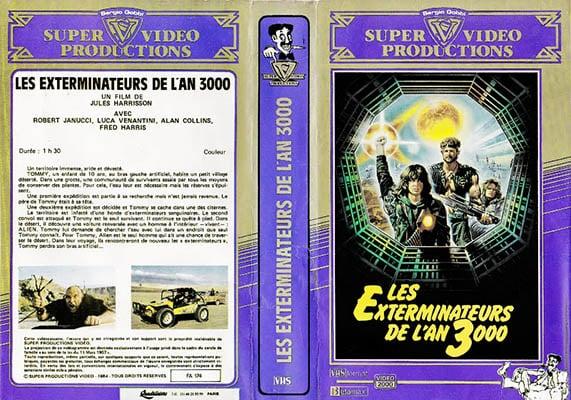 La VHS de Les Exterminateurs de l'an 3 000 chez Super Video Production