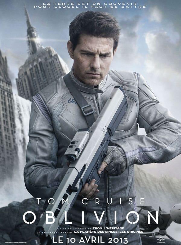 Affiche officielle française de Oblivion avec Tom Cruise