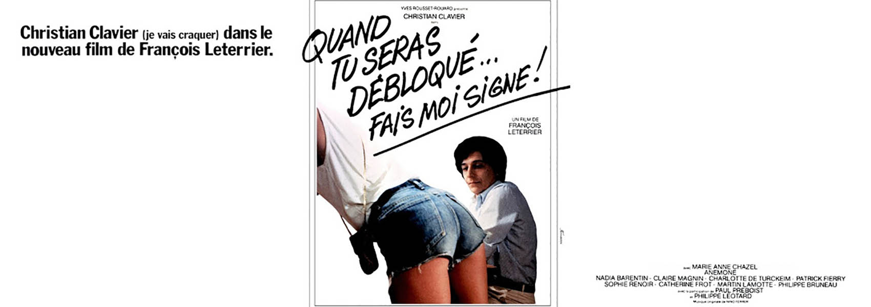 Quand tu seras débloqués... fais moi signe (les babas-cool) : un film de François Leterrier