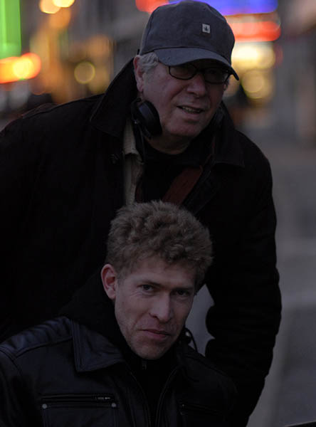 Nathan Miller et Claude Miller sur le tournage de Je suis heureux que ma mère soit vivante