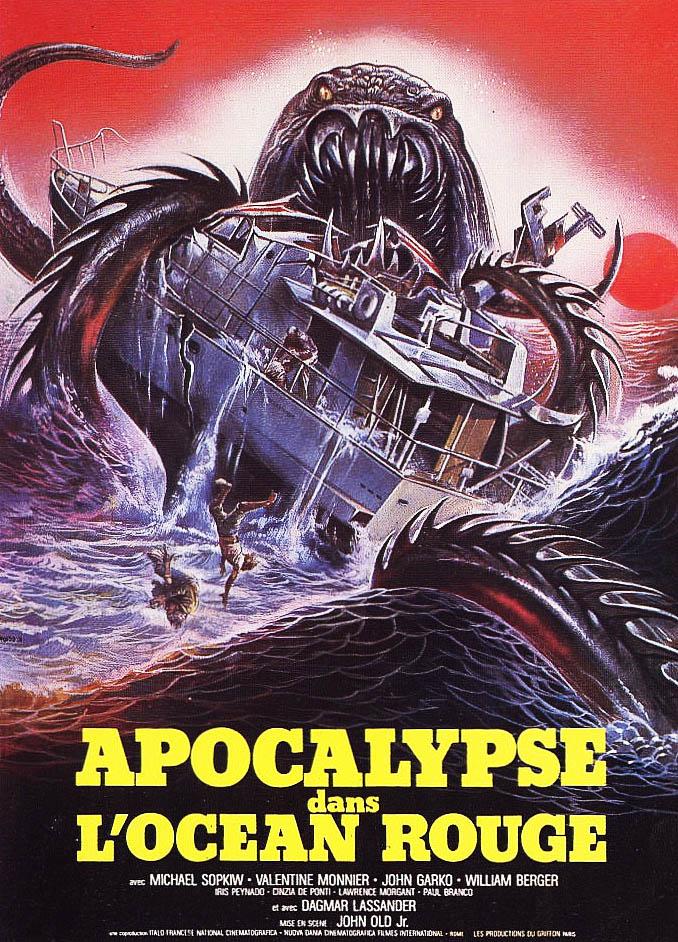 Apocalypse dans l'océan rouge, affiche du film de Lamberto Bava