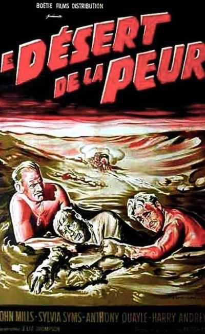 Le désert de la peur, affiche cinéma 1959
