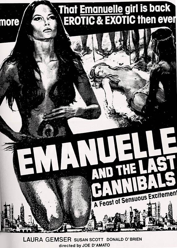 Emmanuel et les derniers cannibales, affiche américaine