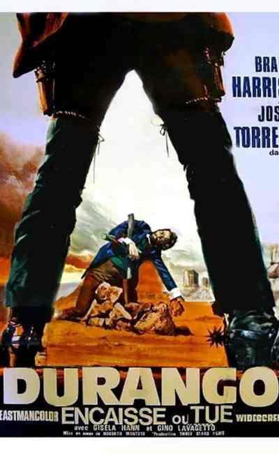 Durango encaisse ou tue : affiche française du film