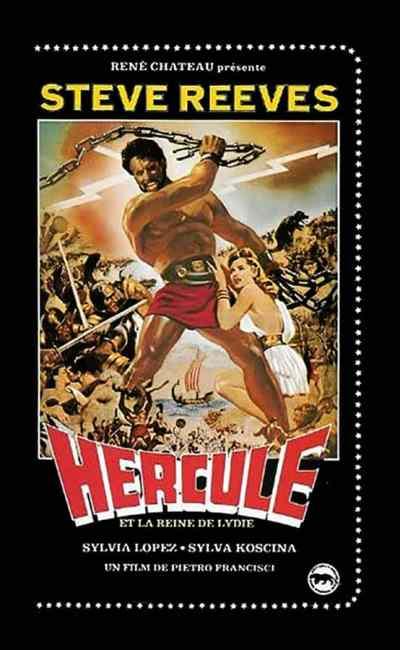 Hercule et la Reine de Lydie avec Steve Reeves, VHS René Chateau, jaquette