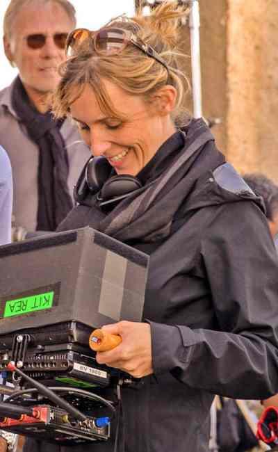 Méliane Marcaggi sur le tournage de Belle Fille