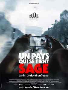 affiche d'Un pays qui se tient sage de David DuFresne