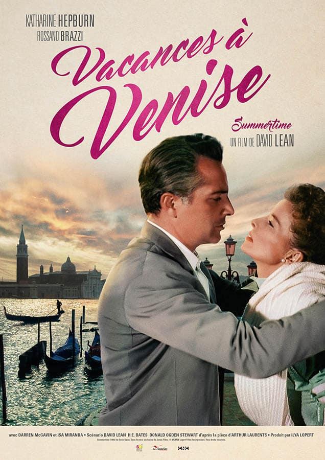 Affiche reprise 2020 de Vacances à Venise (Summertime)