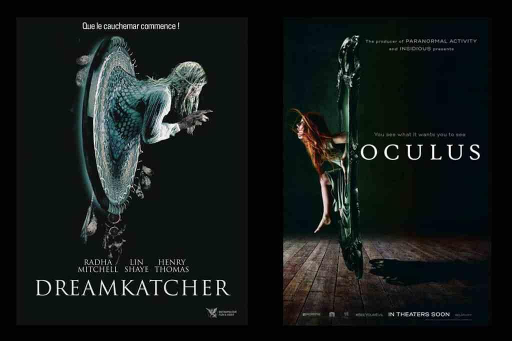 Comparons les affiches de Oculus et Dreamkatcher