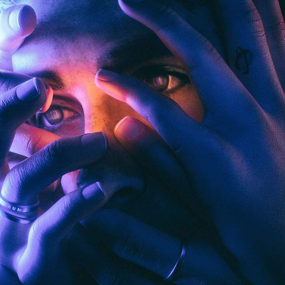Fhin, pochette et cover de l'album Trauma