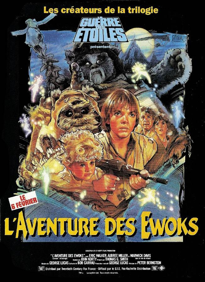 L'affiche de L'aventure des Ewoks, par DREW