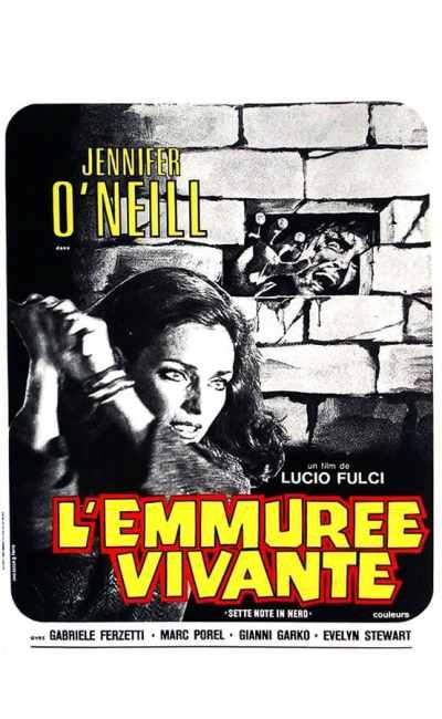 L'emmurée vivante, affiche française