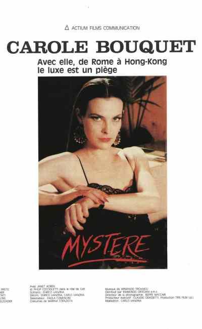 Carole Bouquet est Mystère : affiche du film de Carlo Vanzina
