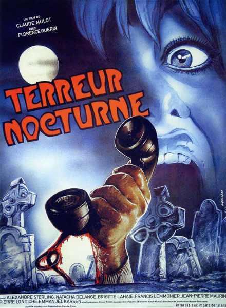 Terreur nocturne (Le couteau sous la gorge), affiche alternative du film de Claude Mulot