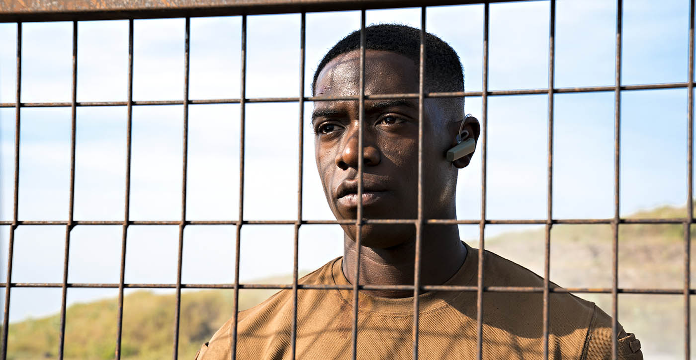 Damson Idris, dans Zone Hostile