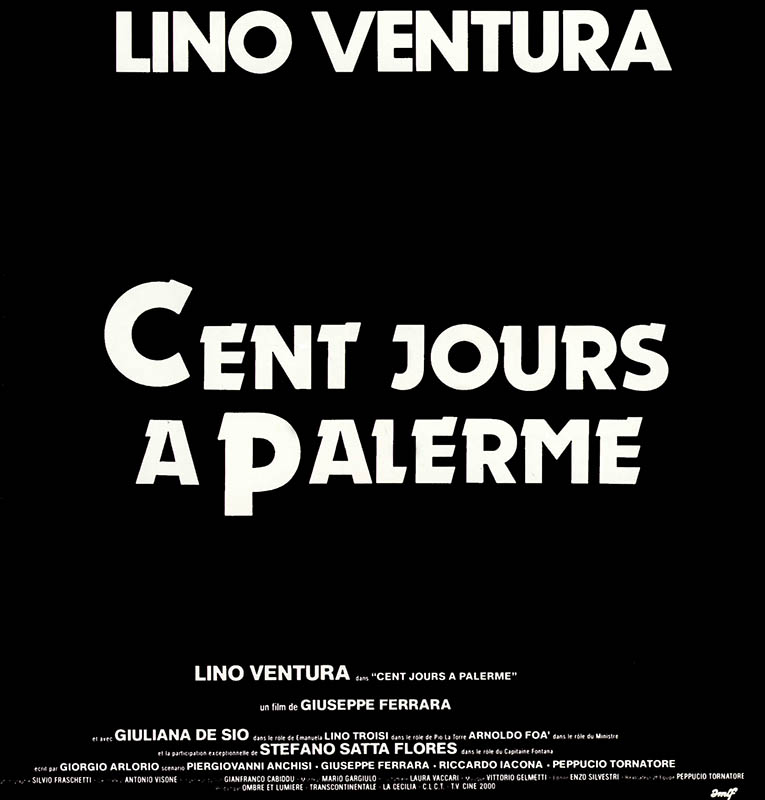 Générique Cent jours à Palerme