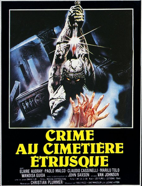 Crime au cimetière étrusque, affiche France