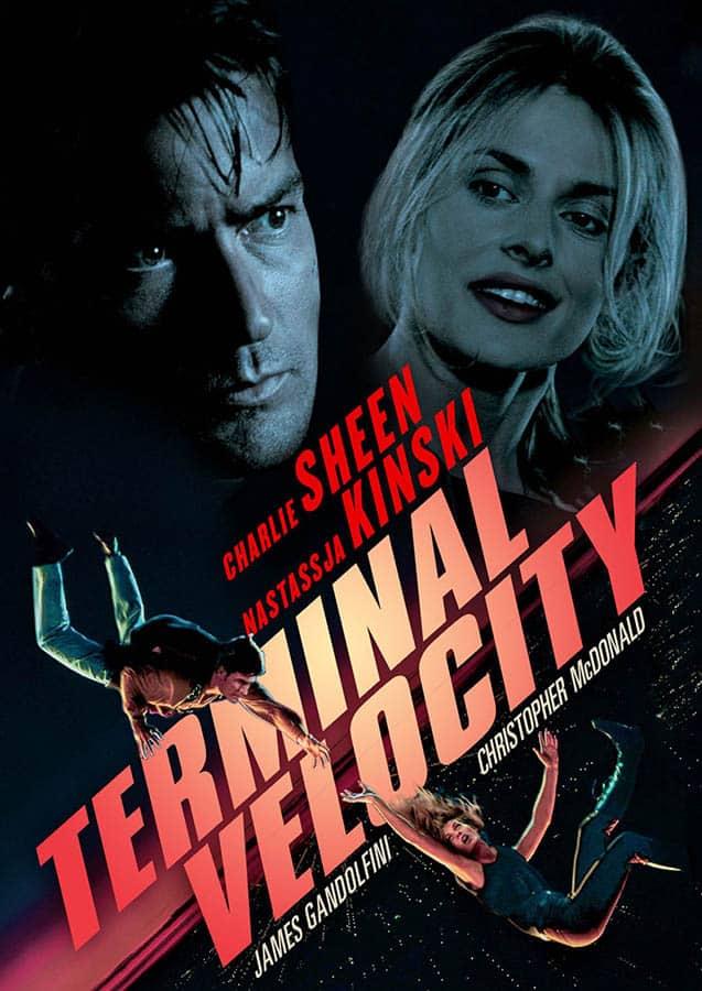 Terminal Velocity, cover VOD du film d'action avec Charlie Sheen et Nastassja Kinski