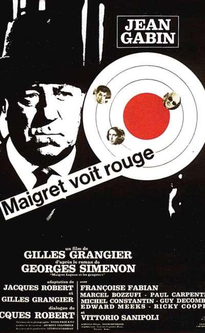 Maigret voit rouge, l'affiche