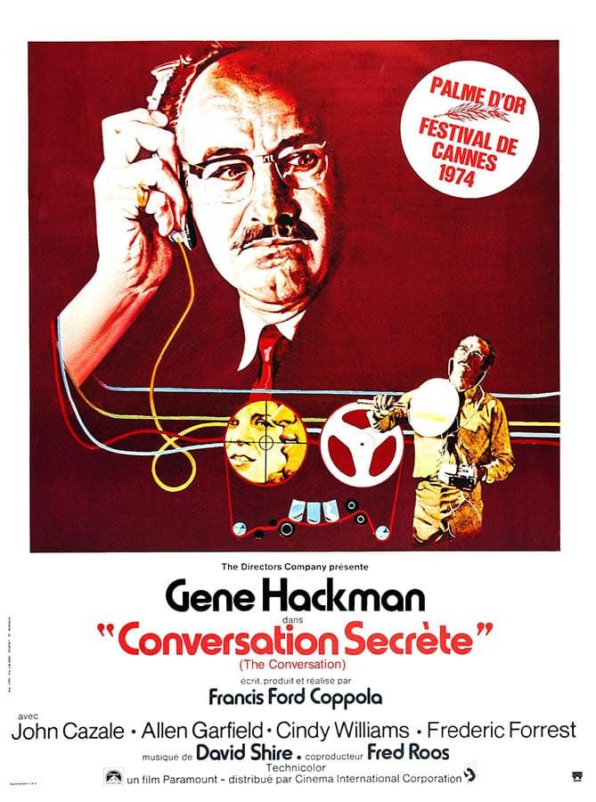 Conversation secrète, affiche du film de Francis Ford Coppola