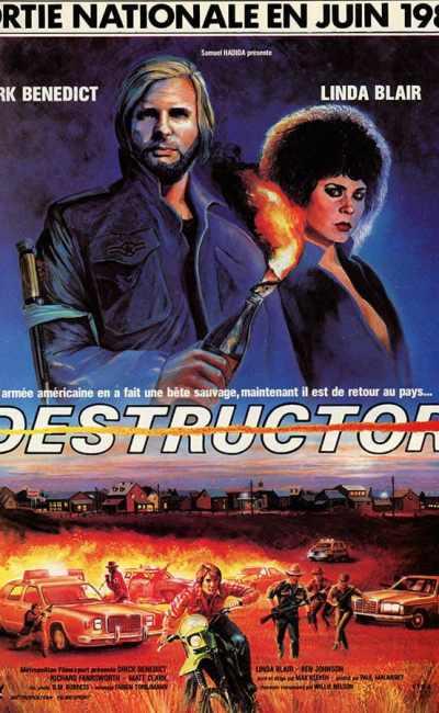 Destructor affiche cinéma 1985, avec Linda Blair
