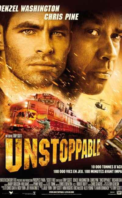 Unstoppable, affiche du film de Tony Scott avec Chris Pine