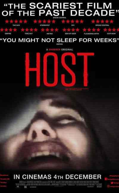 Host, affiche cinéma britannique