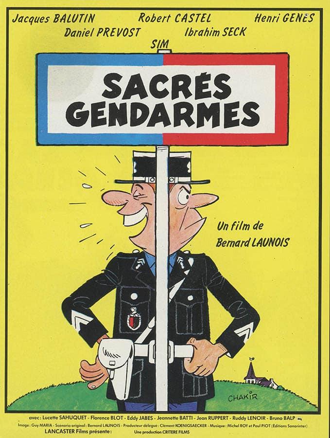 Sacrés Gendarmes, affiche du film de Bernard Launois