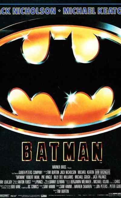 Batman, affiche du film de Tim Burton (1989)
