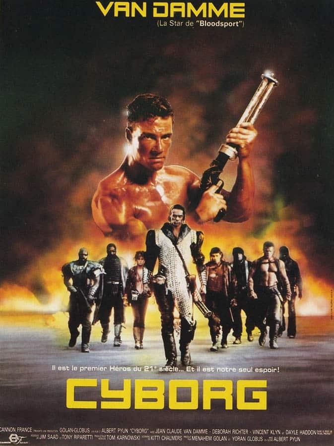 Affiche française de Cyborg d'Albert Pyun, avec Jean Claude Van Damme