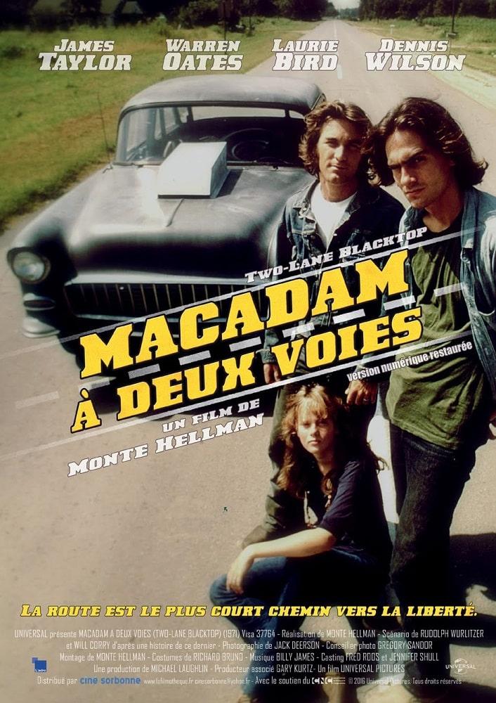 Affiche française (reprise) de Macadam à deux voies de Monte Hellman