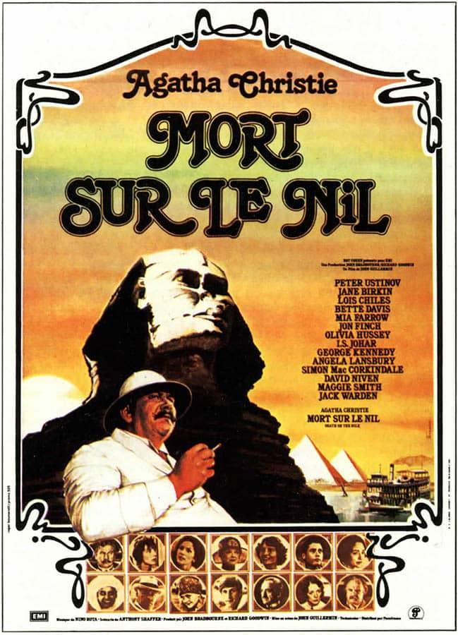 Mort sur le Nil (1978, affiche du film de John Guillermin