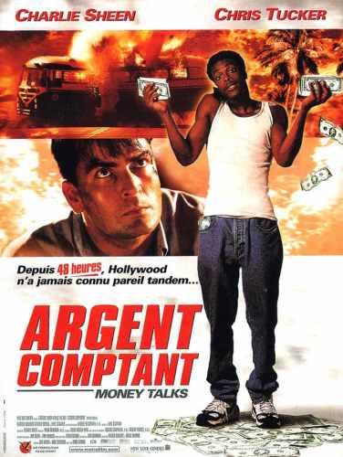 Argent comptant, affiche du film avec Charlie Sheen et Chris Tucker