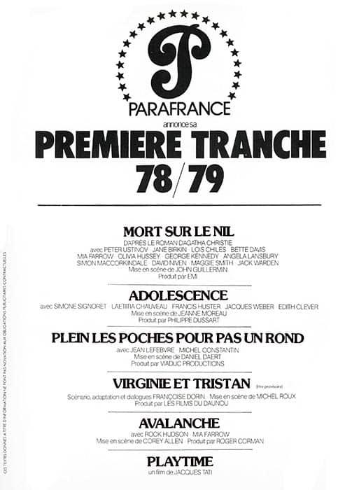 Parafrance : le distributeur propose son programme pour 78/79