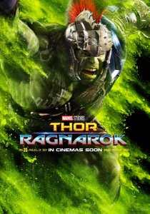 Thor : Ragnarok, affiche personnage de Hulk