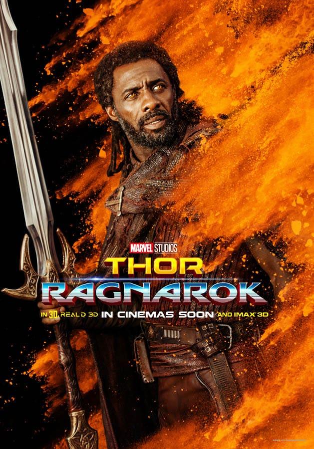 Thor : Ragnarok, affiche personnage Heimdall