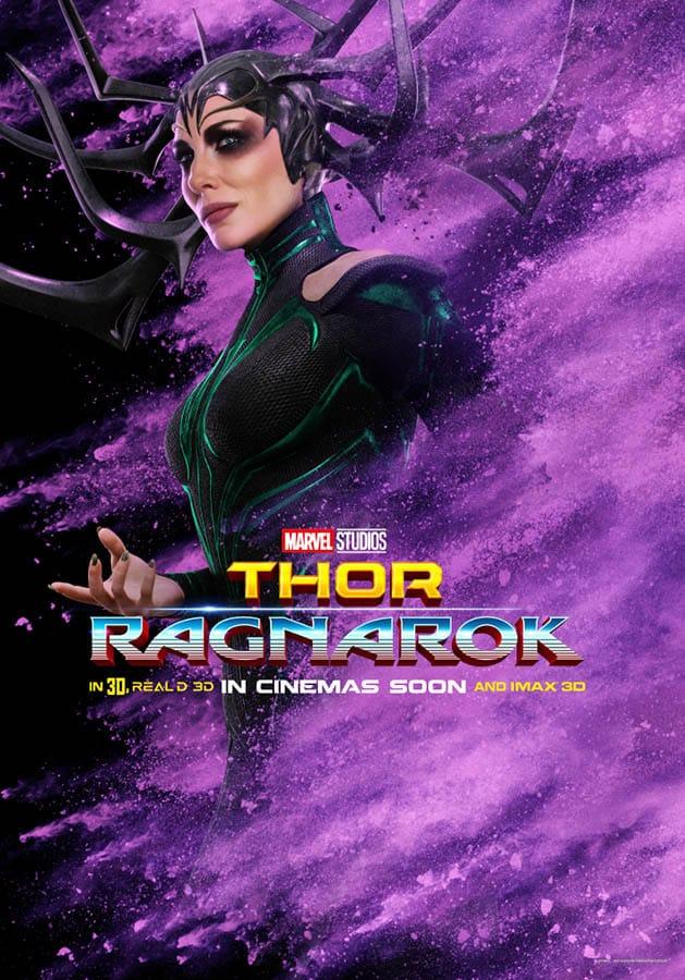 Thor : Ragnarok, affiche personnage de Hela