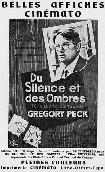 Du silence et des ombres, à Cannes