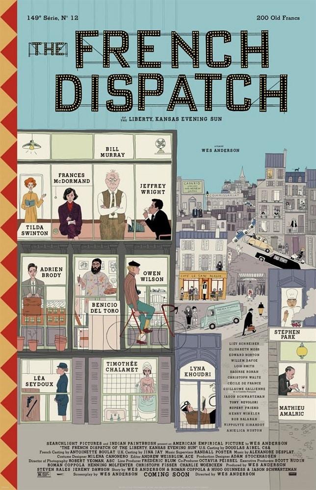 Affiche française de The French Dispatch de Wes Anderson