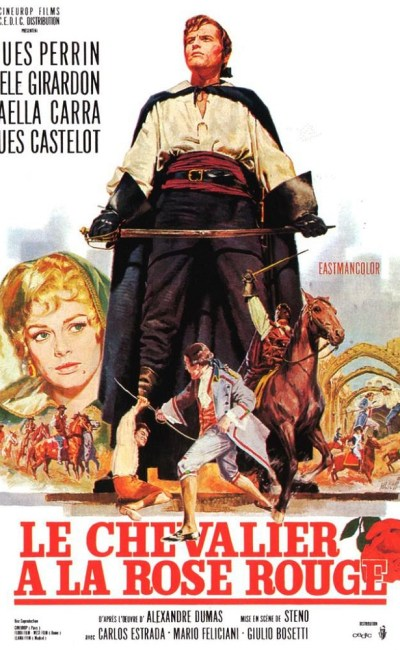 Affiche française du Chevalier à la rose rouge de Steno