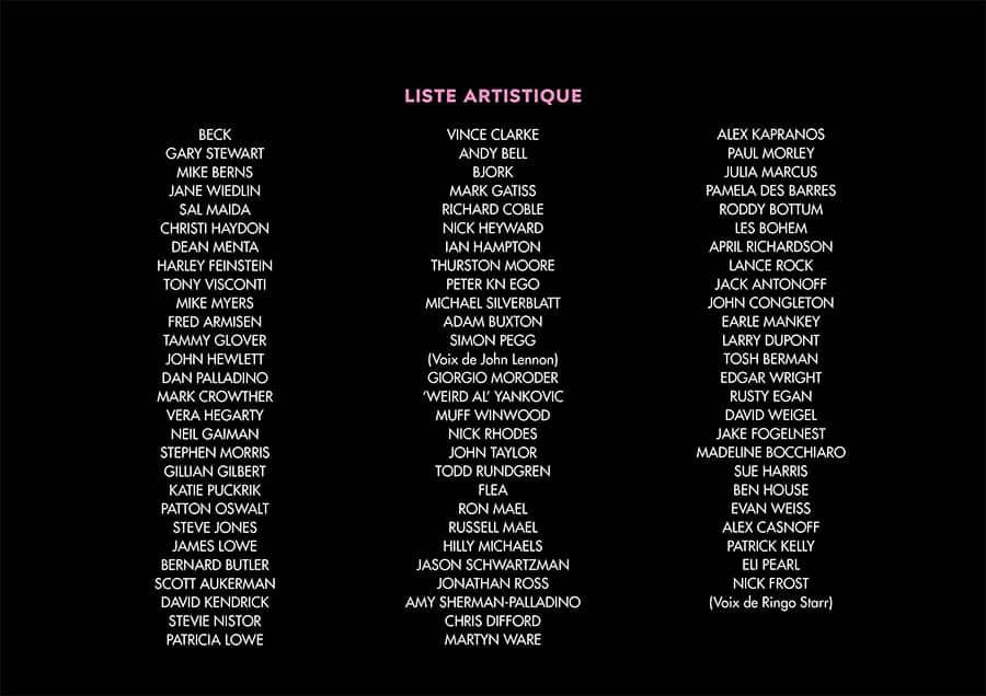 Liste Artistique de The Sparks Brothers