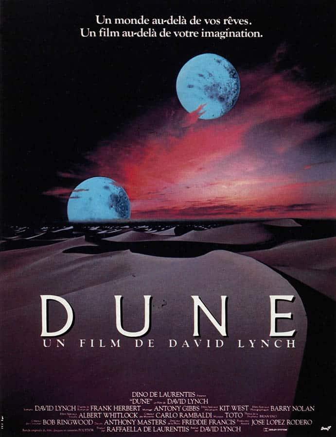 Dune de David Lynch, affiche 1984